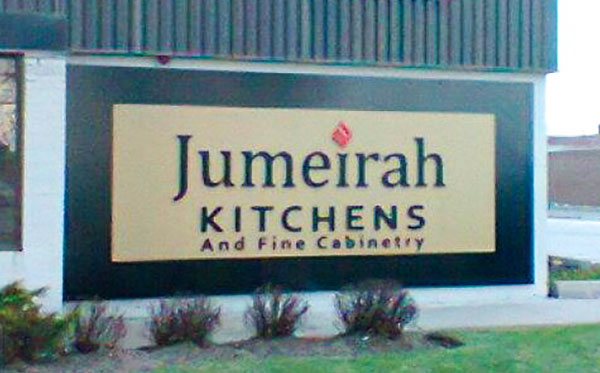 exterior wall commercial sign