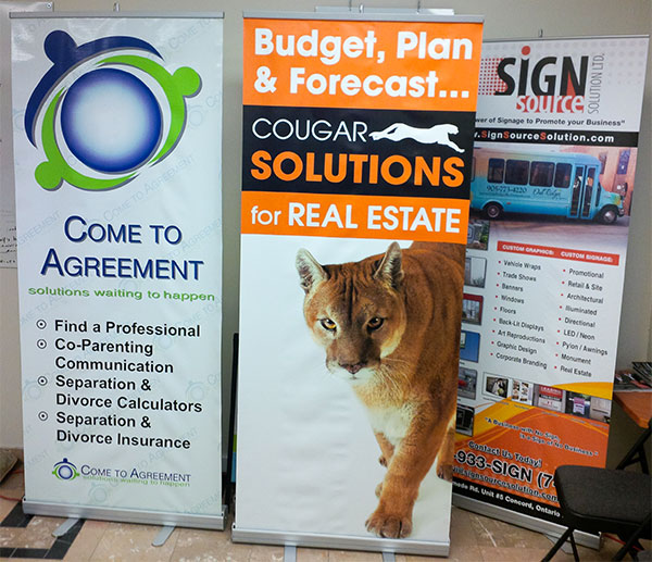 Roll up Banners in standard sizes for trade shows