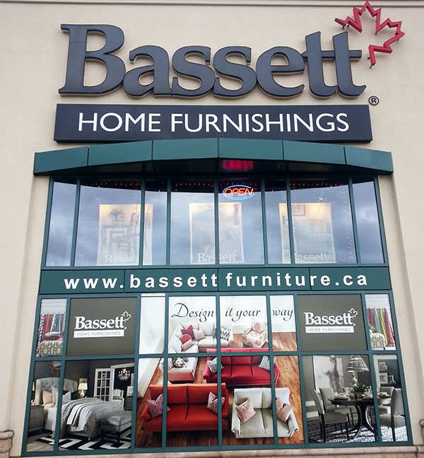 Vaughan Mills window graphic after new panels