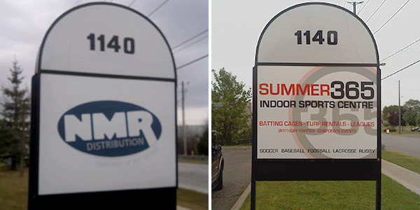 before and after new outdoor ground sign