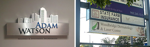 Indoor and outdoor illuminated-signs