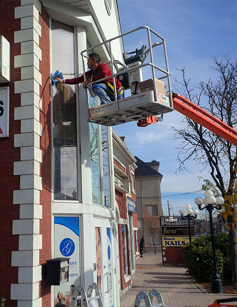 installingl Perforated Window Graphics in Toronto