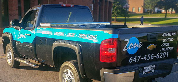 pickup truck decals and wrap