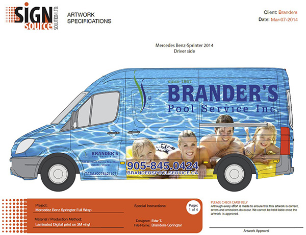van wrap custom design layout