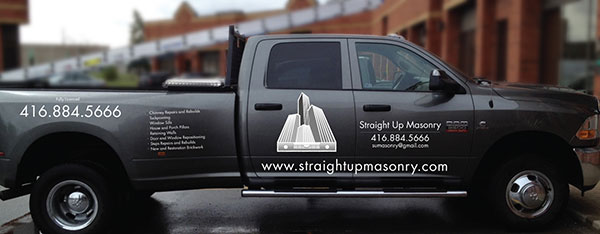 vinyl-wrapped pickup truck toronto
